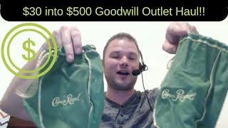 $30 spent into $500 goodwill outlet haul!! #Rockstarflipper