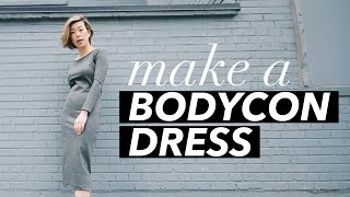How to Make a Bodycon Dress (+ 3 ways to wear!) | WITHWENDY