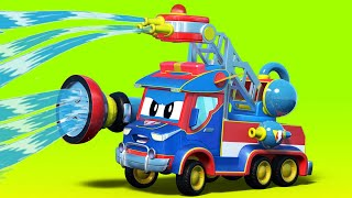 Truck cartoons for kids -  The FIRE TRUCK to the RESCUE - Super Truck in Car City !