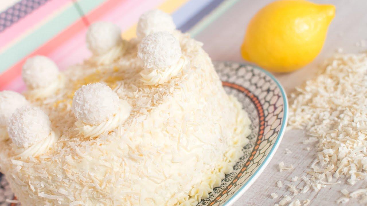 Tarta limón y coco - decoración sencilla | Quiero Cupcakes! - YouTube