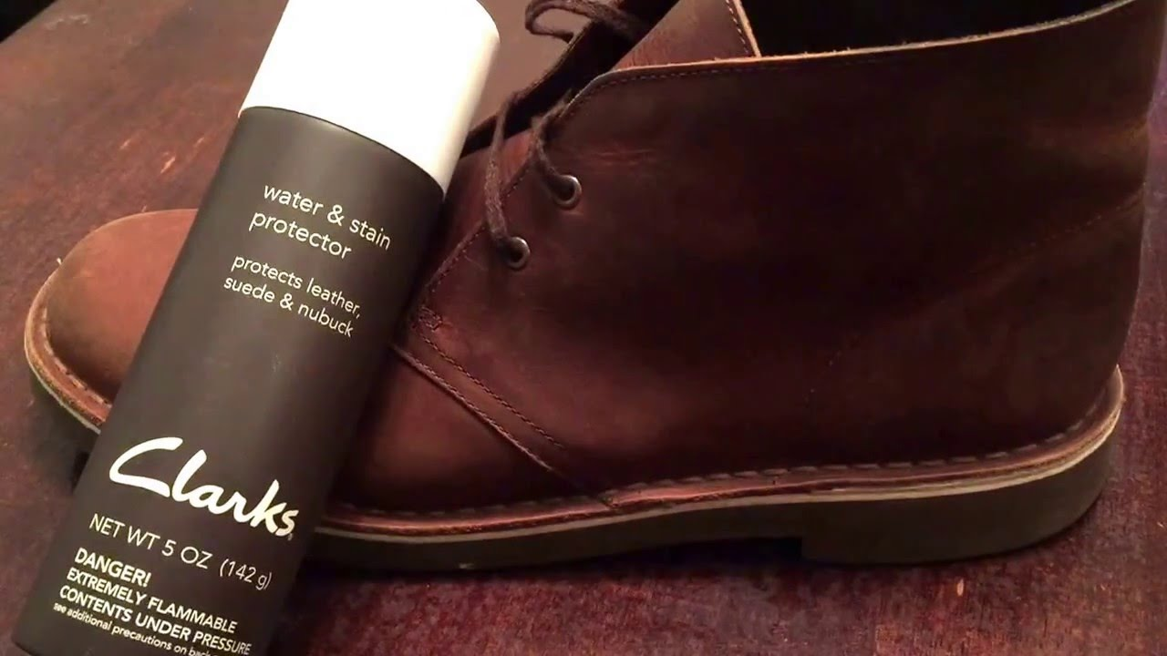 Clarks Boots Leather Water and Stain