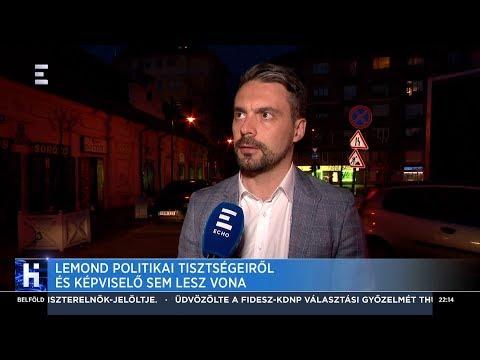 Lemond politikai tisztségeiről és képviselő sem lesz Vona Gábor - ECHO TV
