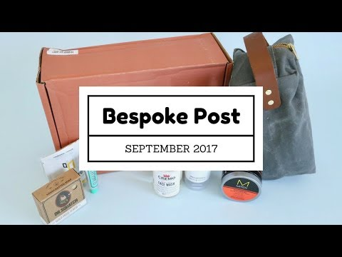 Bespoke Post Subscription Box Unboxing September 2017