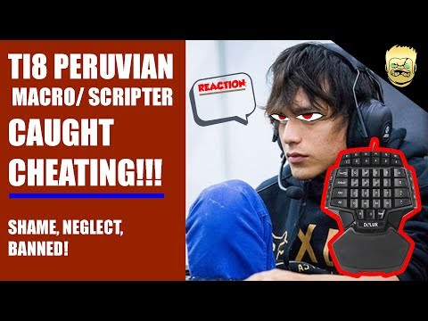 How Cheaters Get Humiliated at TI8 !!! pERUVIAN hackers, macro & scripting Meepo