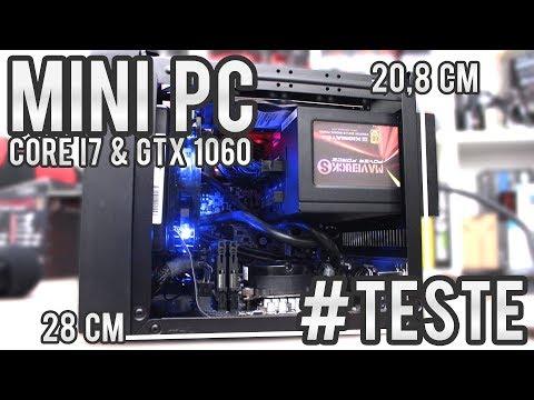 O teste final - PC ITX super compacto com Core I7 e GTX 1060 em BF1, Witcher 3, GTA 5 e PUBG