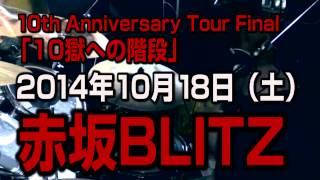 10周年記念ワンマンライブを赤坂BLITZにて開催! 2014年10月18日(土)...