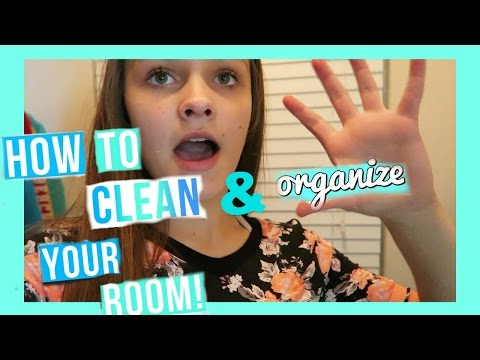 HOW TO CLEAN AND ORGANIZE YOUR ROOM! | Emma Marie's World