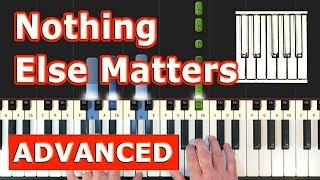 Metallica - Nothing Else Matters - Piano Tutorial Easy - Sheet Music (Synthesia) - Stafaband