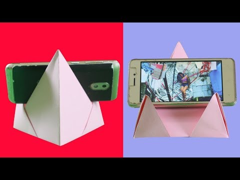 Diy Paper Craft  - Origami Mobile Phone Stand ( Handicrafts) - Eassy Life