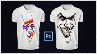 How To Change T Shirt Design or  Logo in Photoshop | Photoshop cc Tutorial
