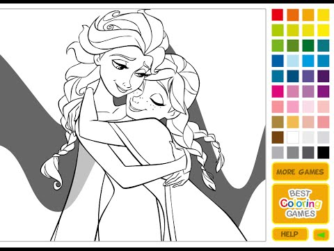 Frozen Coloring Pages - Coloring Pages For Girls - YouTube