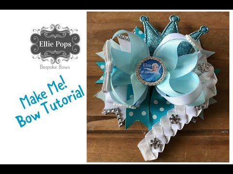"""Big Southern Bow 6"""" Elsa Frozen Bow Tutorial with Braid!"""