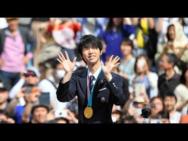 【速報】羽生結弦選手が仙台市でオリンピック連覇の祝賀パレード