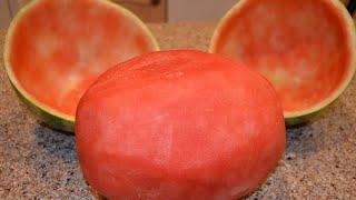 Skin Watermelon Trick - H๐w to Skin a watermelon