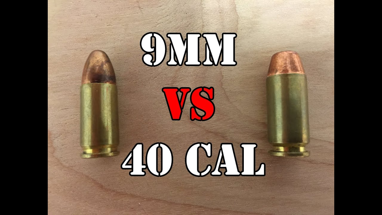 9mm vs 40 caliber    Head to Head