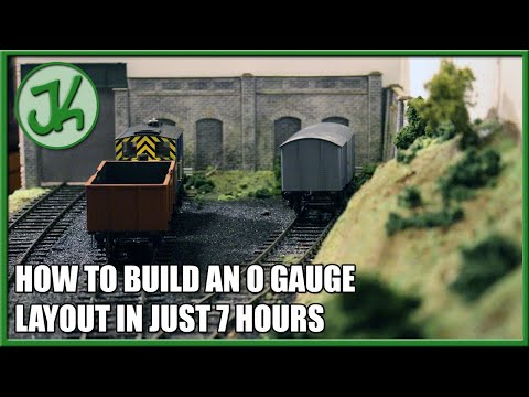 How To Build an O Gauge Layout in just 7 Hours