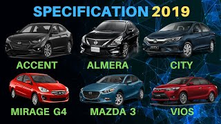 Honda City vs Toyota Vios vs Nissan Almera |  And more  | Sedan Comparison 2019 | 1080p