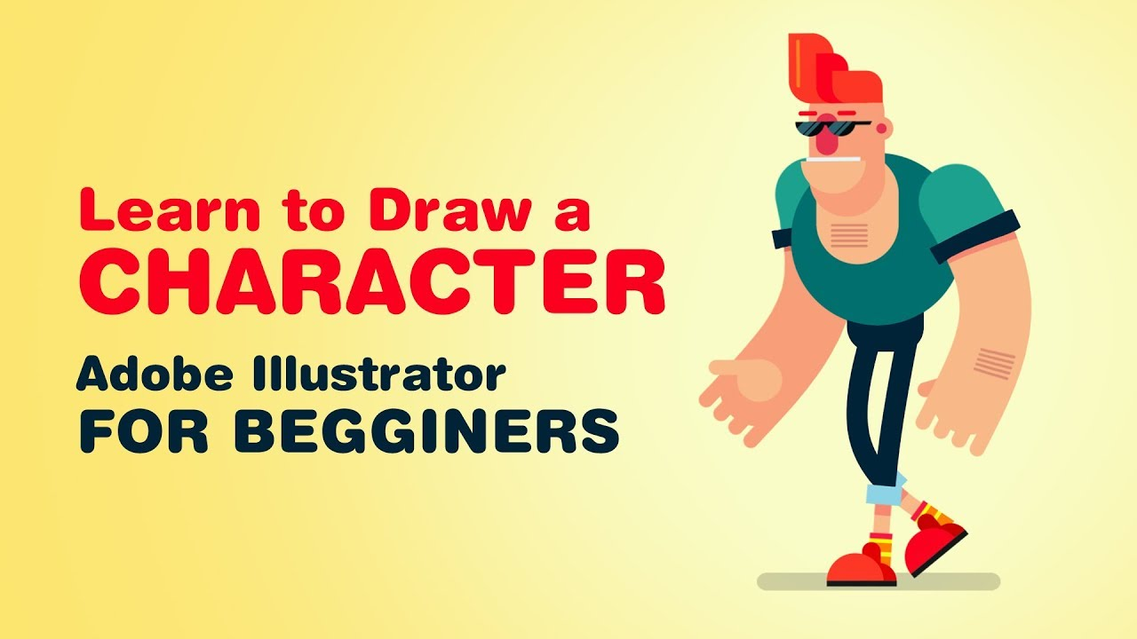 Illustrator Cs6 Character Design : Learn how to draw character in adobe illustrator part