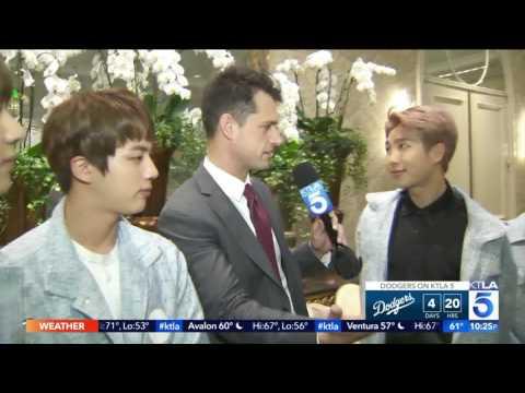Spotlight: KPop Group BTS Interviews w KTLA before big Anaheim shows