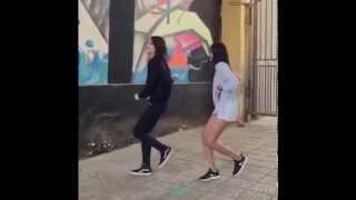 Девушки танцует классно  (Mongolian Girls - Shuffle Dance 2015 HD)