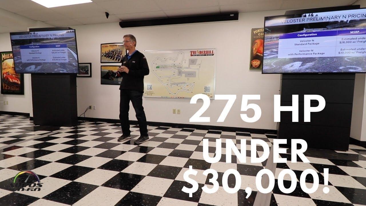 2019 Hyundai Veloster N presentation by Mike O'Brien, VP Product Planning, Hyundai Motor America