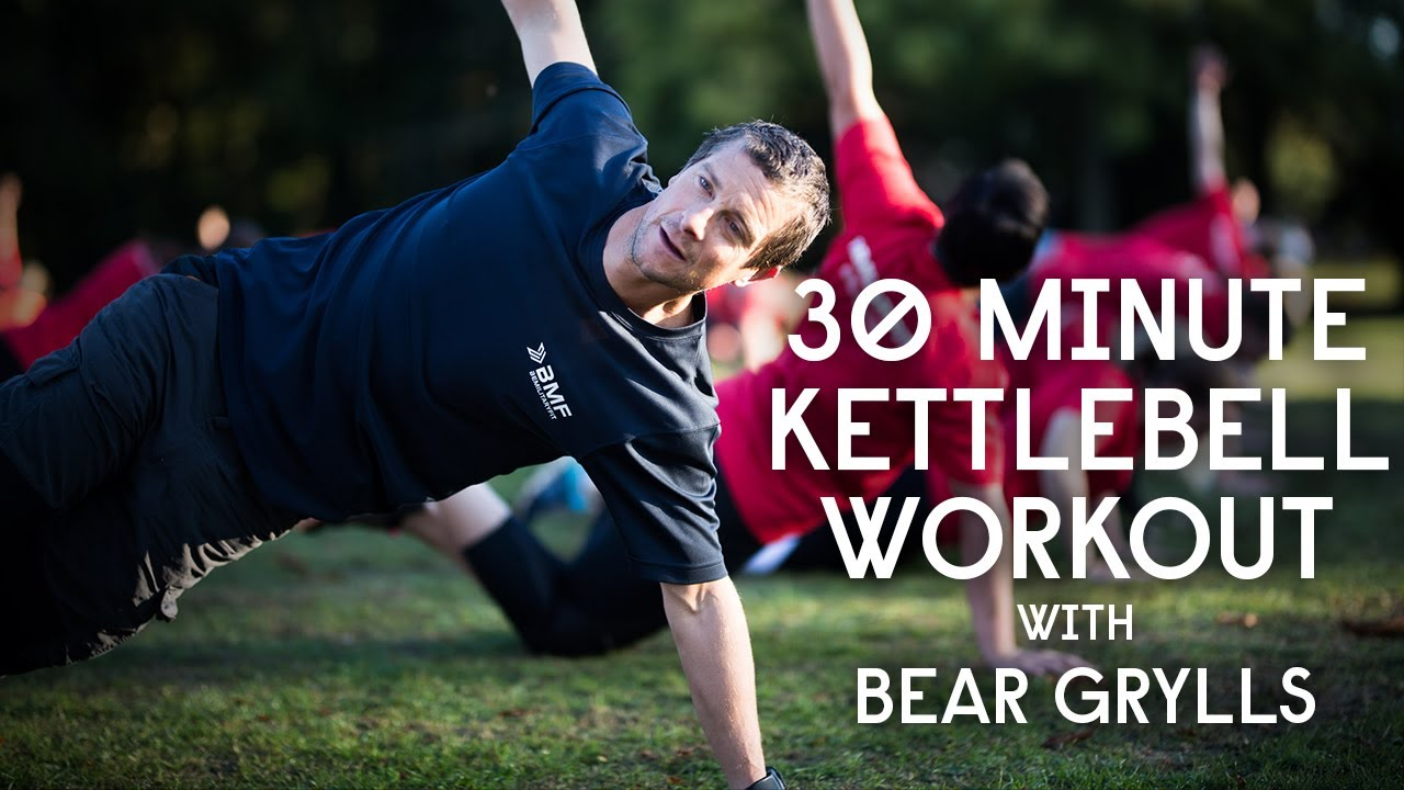 Bear Grylls Be Military Fit 30 Minute Kettlebell Workout | 03/07/20