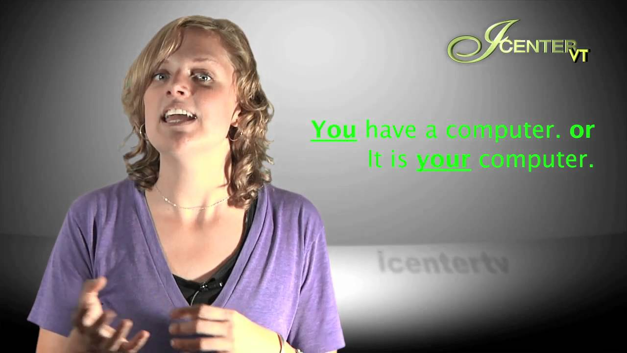 Video 6 Possessive Adjectives Cursos De Ingles Youtube