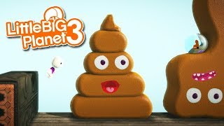 LittleBIGPlanet 3 Poop King by P E E P Playstation 4 Gameplay, Walkthrough