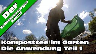 Komposttee im Garten anwenden
