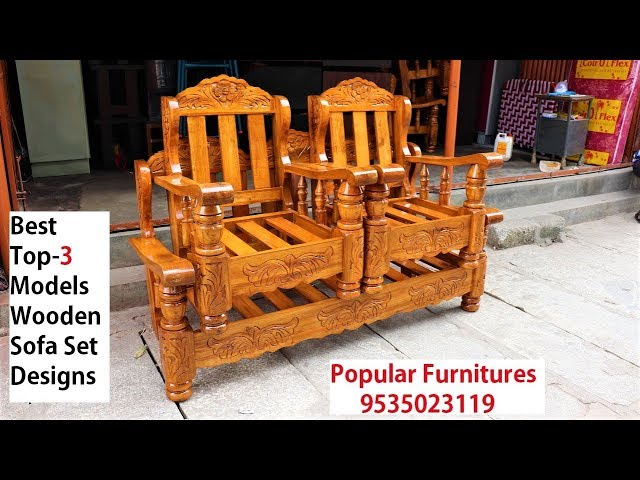 New Latest Stylish Wooden Sofa Set Top 3 Models Designs In Popular Furnitures