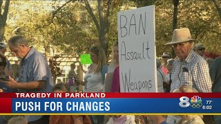 Gun control rally underway in St. Pete in wake of deadly school shooting