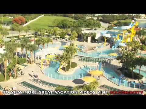 The Ron Jon Cape Caribe Resort is located in Cape Canaveral, Florida. Ron Jon Cape Caribe Resort has a lazy river where you can take a tube ride. There is a foot-long water slide, a heated pool, an exercise room, tennis courts, basketball courts, Miniature .
