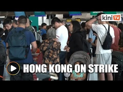 Hong Kong's airport canceled all flights on Monday as protests raged. Here's why.