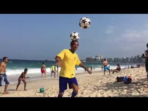 14. Copacabana Beach Man Shows off Soccer Skills