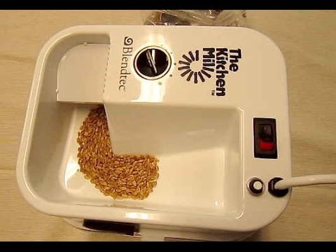Blendtec Kitchen Mill Cupboard Hardware Grinding Grain Home Milling Youtube