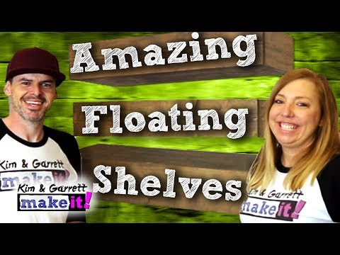 Easy DIY Floating Shelves - How To Make Wood Floating Shelves