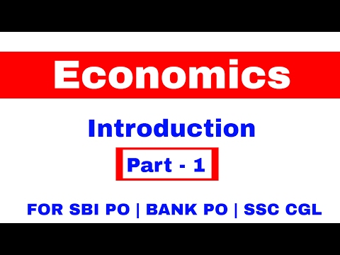Introduction of Economics Part 1 for SBI PO | BANK PO | SSC CGL