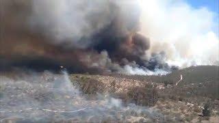 (CHILE November 2019) 4 focos de incendios forestales se mantienen activos en Valparaíso