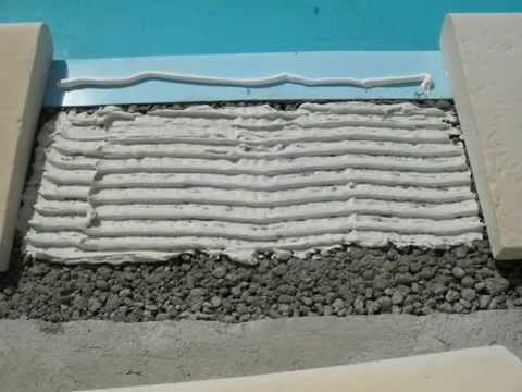 Ceinture margelles youtube for Ceinture beton piscine