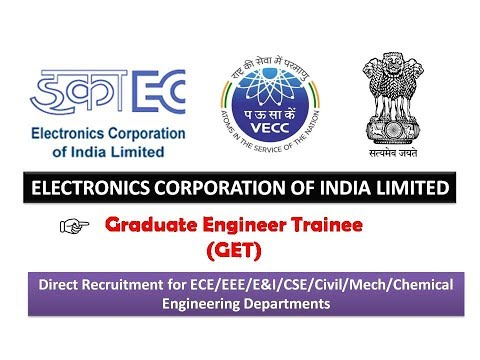Graduate Engineer Trainees | ECIL Recruitment 2017 | No GATE Score