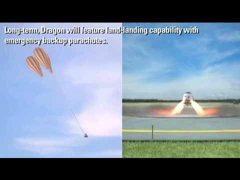 SpaceX Dragon Propulsive Landing - YouTube