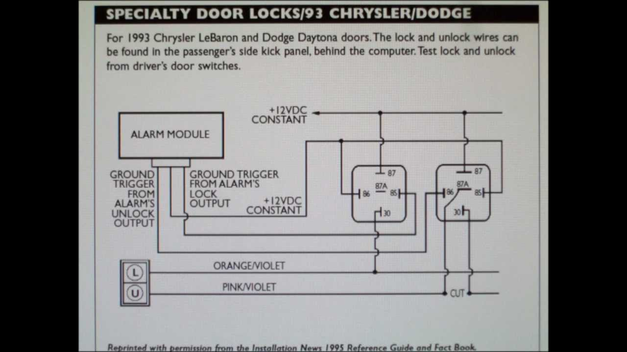 How To Wire Specialty Door Locks On Chrysler Lebaron And