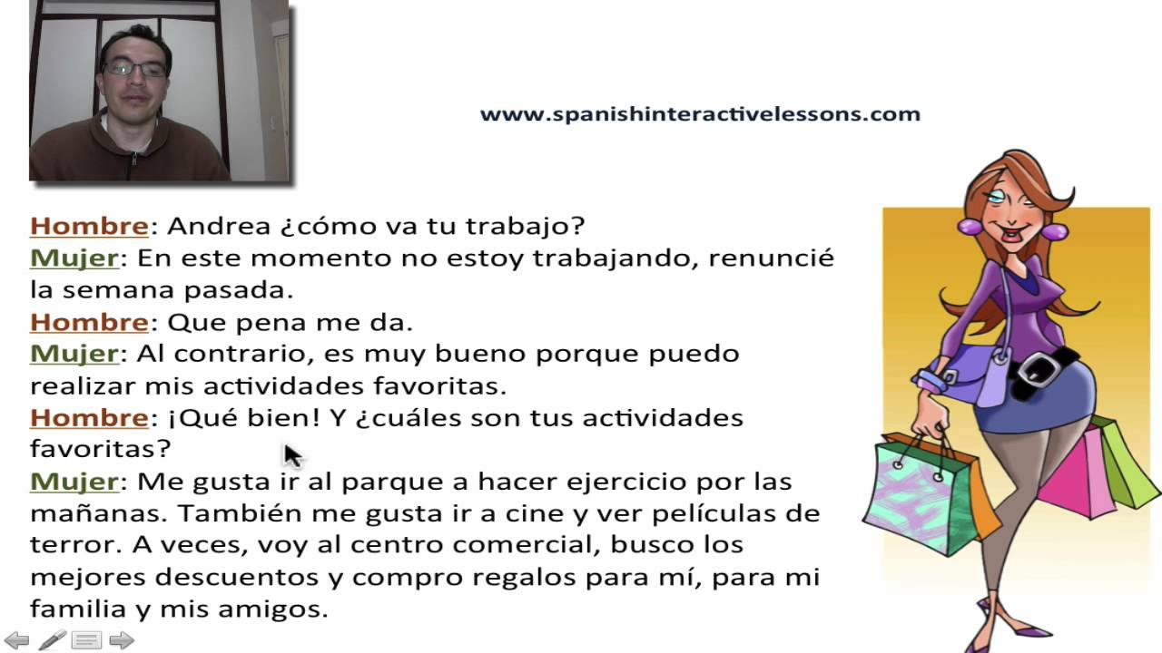 real spanish conversation dialogue about favorite activities in spanish youtube. Black Bedroom Furniture Sets. Home Design Ideas