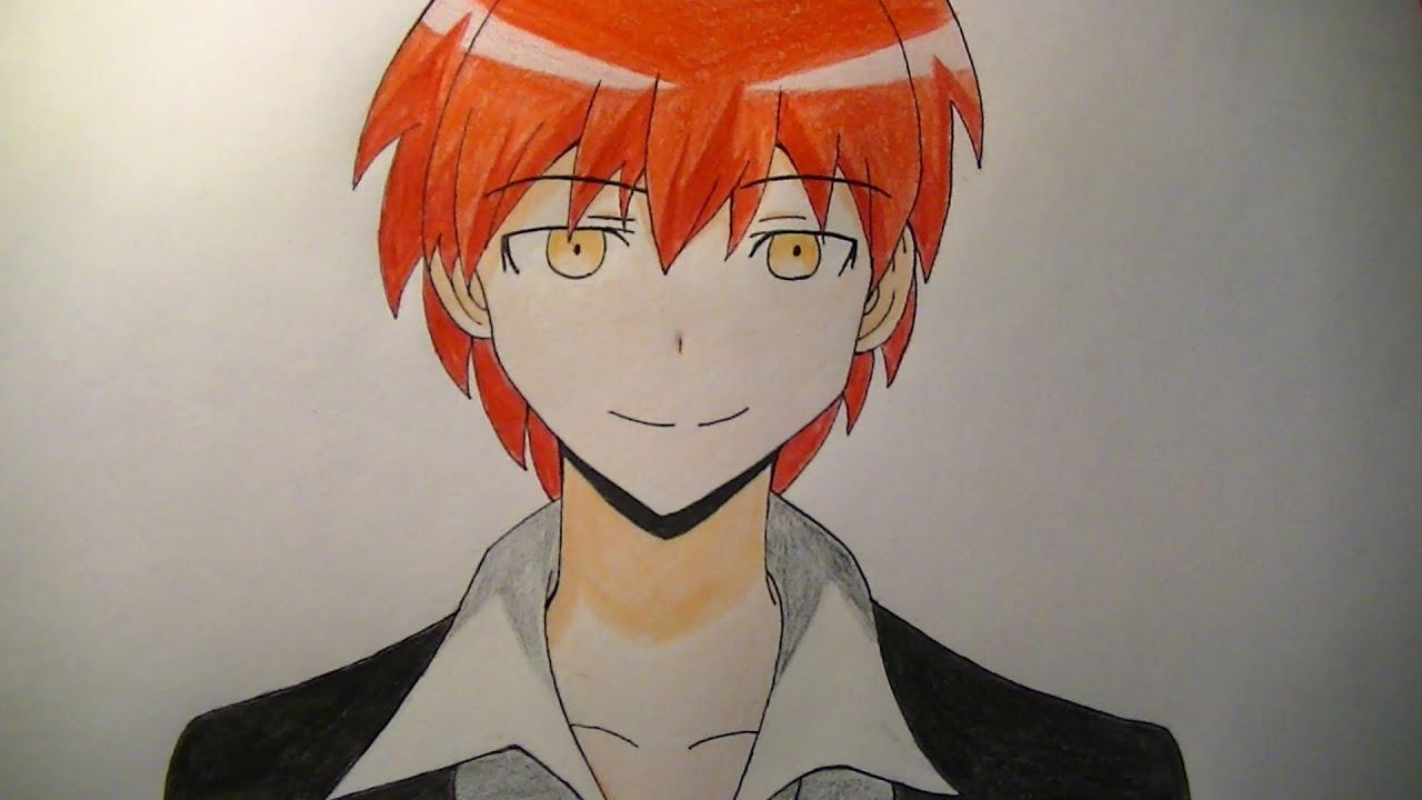 Como dibujar/pintar a Karma Akabane - Assassination Classroom (Anime ...