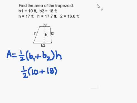 How to Find the Area of a Trapezoid  YouTube