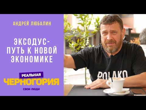 Эксодус - путь к новой экономике. Андрей Любалин | РЕАЛЬНАЯ ЧЕРНОГОРИЯ
