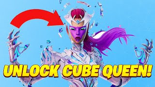 How to UNLOCK tнe CUBE QUEEN SKIN! How to Complete ALL Cube Queen Challenges Guide!