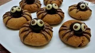 Домашнее печенье - Шоколадные паучки на Хеллоуин