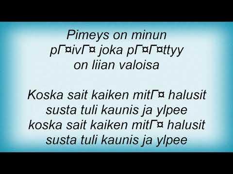 Ultra Bra - Kaunis Ja Ylpee Lyrics