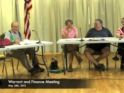 Warrant and Finance - 05-26-2015